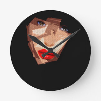 Female Expressions 592 Wall Clock