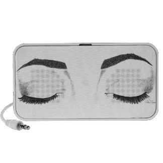 Female Eyes Sketch Speaker System
