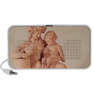 Female faun with her child portable speakers