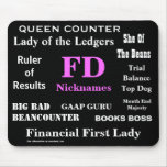 Female FD Nicknames Funny Financial Director Names Mousepads