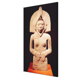 Female fertility figure, Huaztec Canvas Print