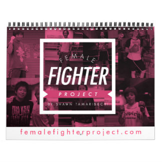 Female Fighter Project Calender Wall Calendars