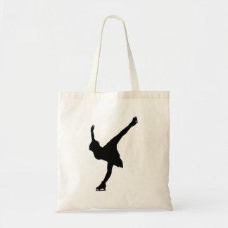 Female Figure Skater Silhouette - Tote Bag