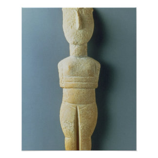 Female figurine, early Cycladic, c.2800-2300 BC (m Poster