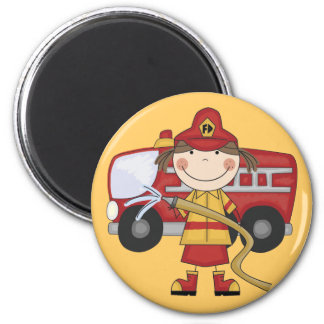 Female Firefighter T-shirts and Gifts Magnet