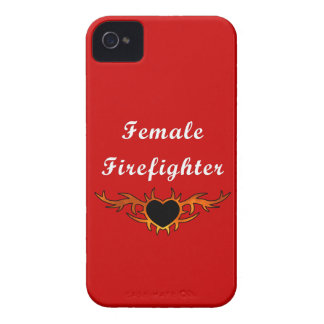 Female Firefighter Tattoo iPhone 4 Case-Mate Cases