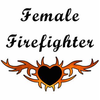 Female Firefighter Tattoo Photo Sculptures