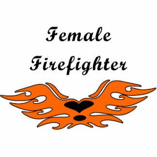 Female Firefighter Tattoos Photo Sculpture Decoration