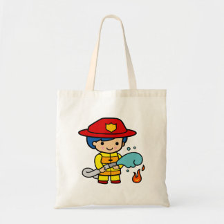 Female Firefighter Tote Bag