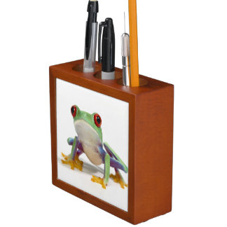 Female frog 2 desk organiser