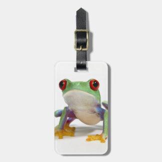 Female frog 2 luggage tag