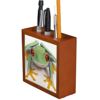 Female frog desk organiser