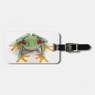 Female frog luggage tag