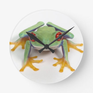 Female frog round clock