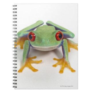 Female frog spiral notebooks