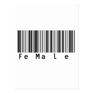 Female  Funky Barcode Postcard
