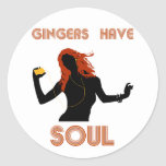 Female Gingers have Soul Round Sticker