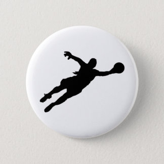 (Female) Goalie Save 6 Cm Round Badge