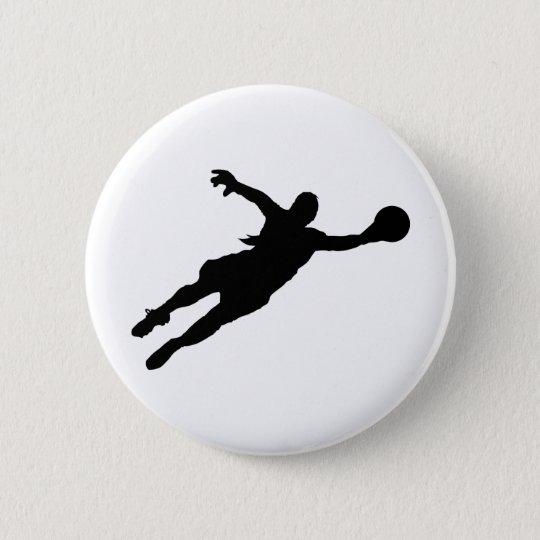 (Female) Goalie Save 6 Cm Round Badge