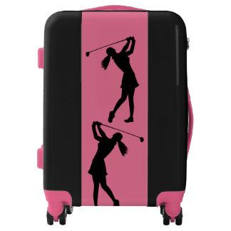 Female Golf Swinger Customizable Luggage