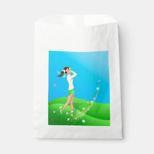 Female Golfer Spring Favour Bag