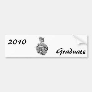 Female Graduate Car Bumper Sticker