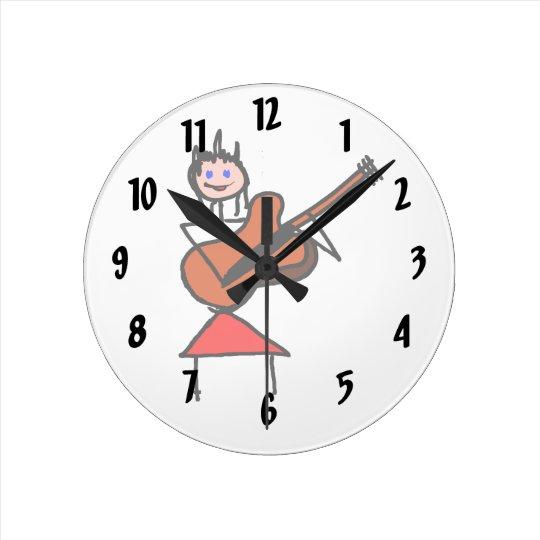 female guitar stick figure brown gtr blue eyes