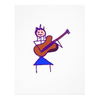 female guitar stick figure brown gtr purple flyers