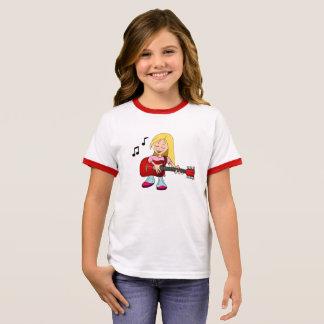 Female Guitarist Ringer T-Shirt