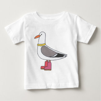 Female Gull - Pearls and boots Baby T-Shirt