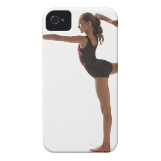 Female gymnast (12-13) balancing on one leg iPhone 4 case