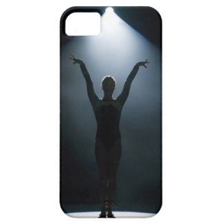 Female gymnast performing in spotlight, studio barely there iPhone 5 case