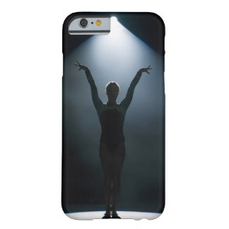 Female gymnast performing in spotlight, studio barely there iPhone 6 case