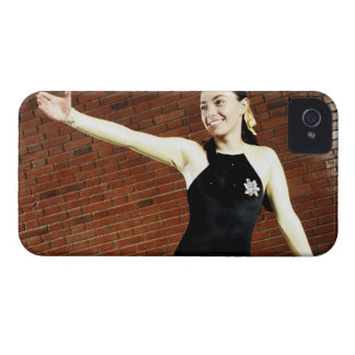 Female gymnast practicing on a balance beam and iPhone 4 cases
