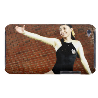 Female gymnast practicing on a balance beam and iPod Case-Mate cases