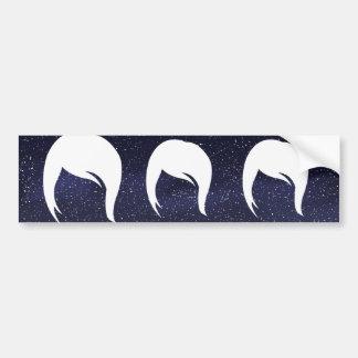Female Hairs Symbol Bumper Sticker