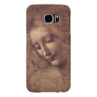 Female Head La Scapigliata by Leonardo da Vinci Samsung Galaxy S6 Cases