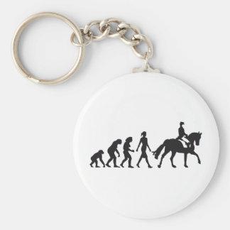 female horse more rider basic round button key ring