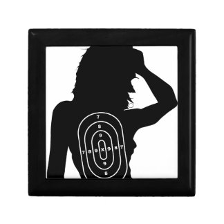 Female Human Shape Target Small Square Gift Box