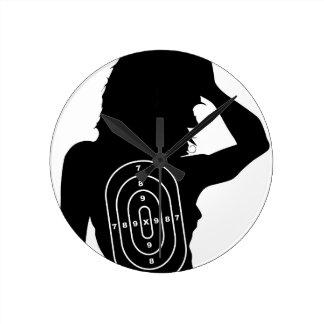 Female Human Shape Target Wallclock