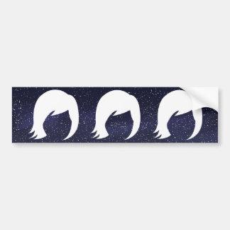 Female Images Minimal Bumper Sticker
