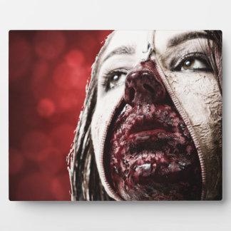 Female makup blood plaque