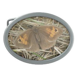 Female Meadow Brown Butterfly Belt Buckle