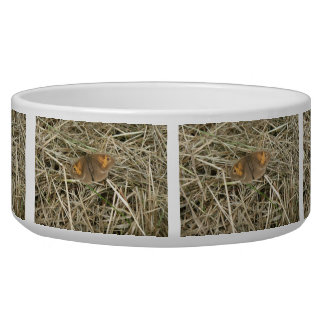 Female Meadow Brown Butterfly Dog Bowl