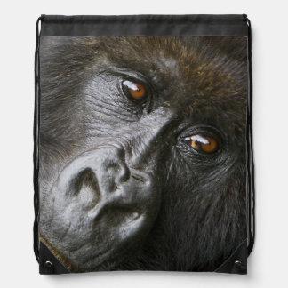 Female Mountain Gorilla Drawstring Bag
