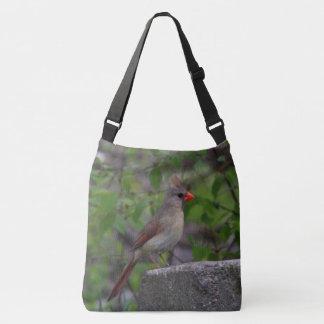 Female Northern Cardinal Crossbody Bag