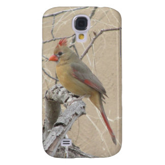 Female Northern Cardinal Galaxy S4 Case