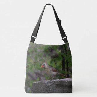 Female Northern Cardinal II Crossbody Bag