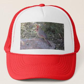 Female Northern Cardinal Trucker Hat