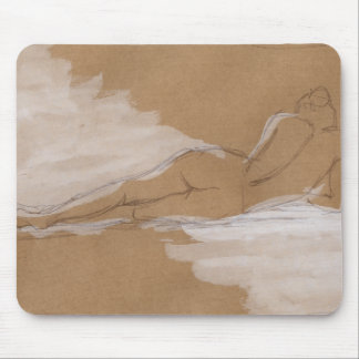 Female Nude Composition Lying in Bed Mouse Pad